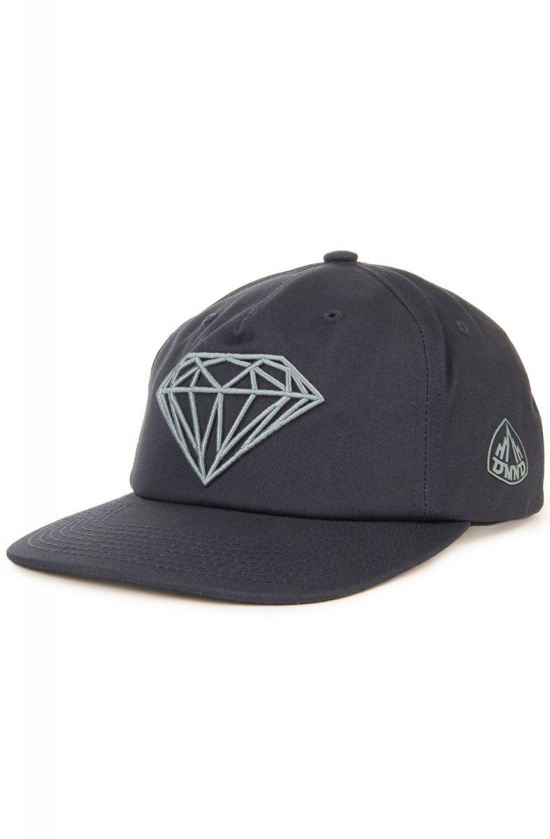 Diamond Supply Co. Hat Brilliant Snapback Navy Blue 2a161e67c89d