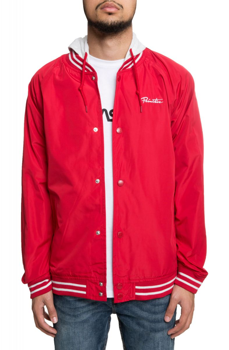 748cdf588 The Lightweight Two-fer Varsity Jacket in Red