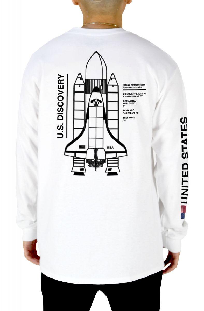 5bac96258e3aa0 nasa us discovery space shuttle mens long sleeve t-shirt