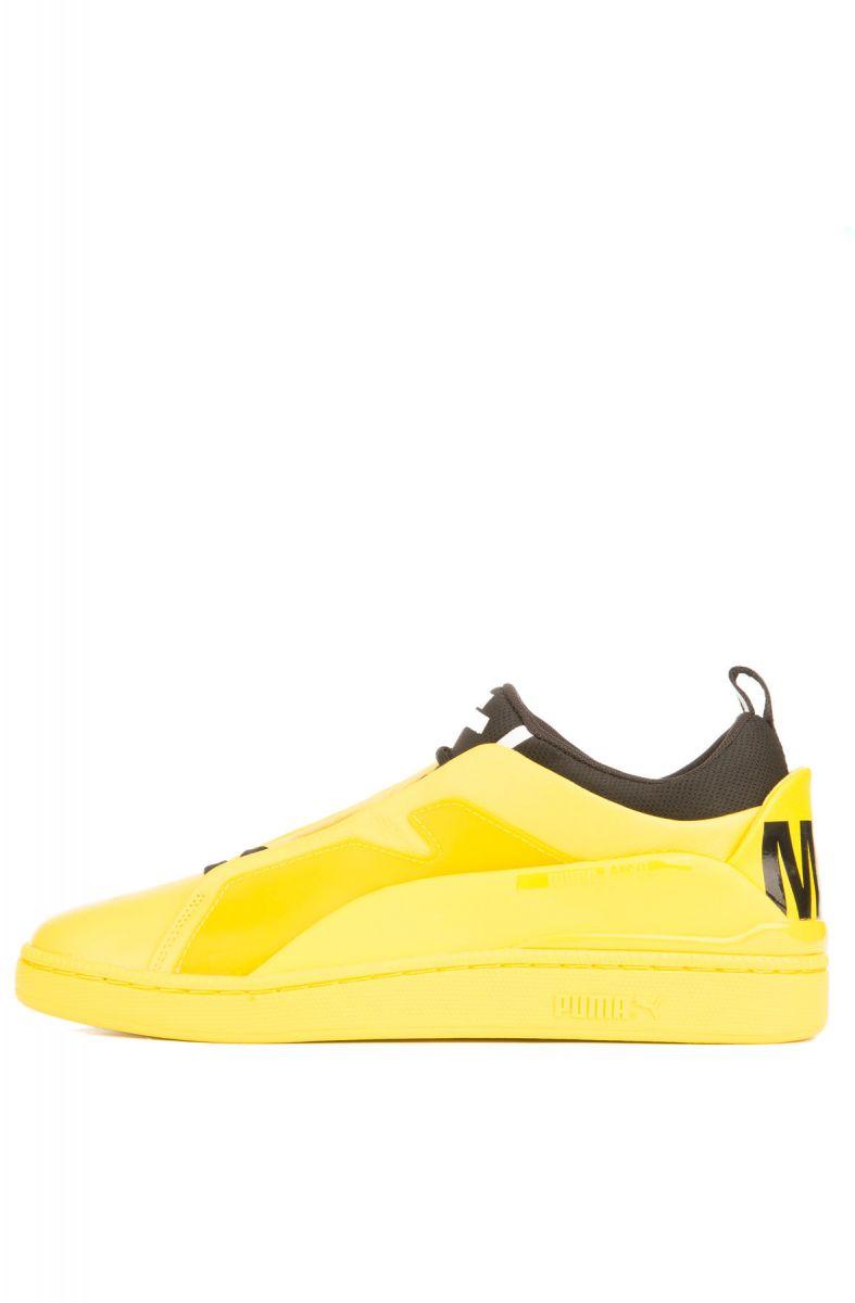 79199080b138 Puma Sneaker Puma x MCQ Brace Lo Cyber Yellow and Puma Black