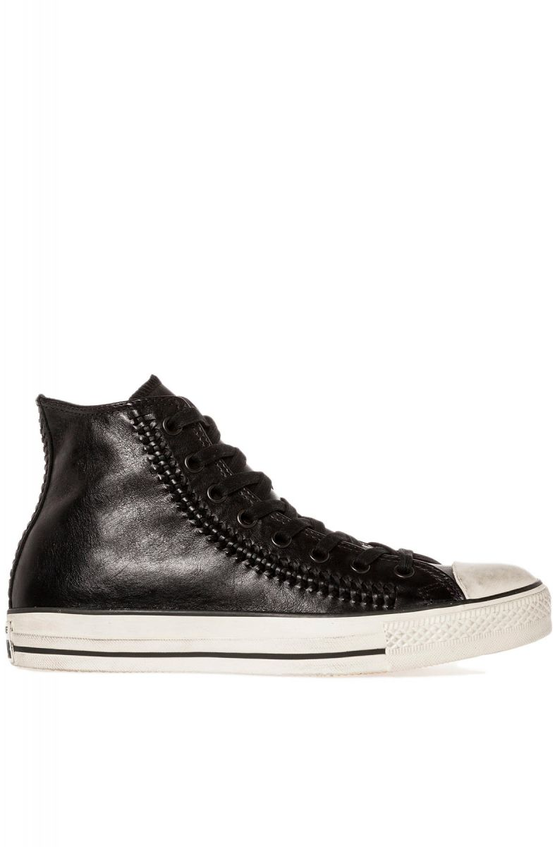aa6491a9c9c4 Converse Sneaker John Varvatos Woven Leather Chuck Taylor All Star Hi in  Black