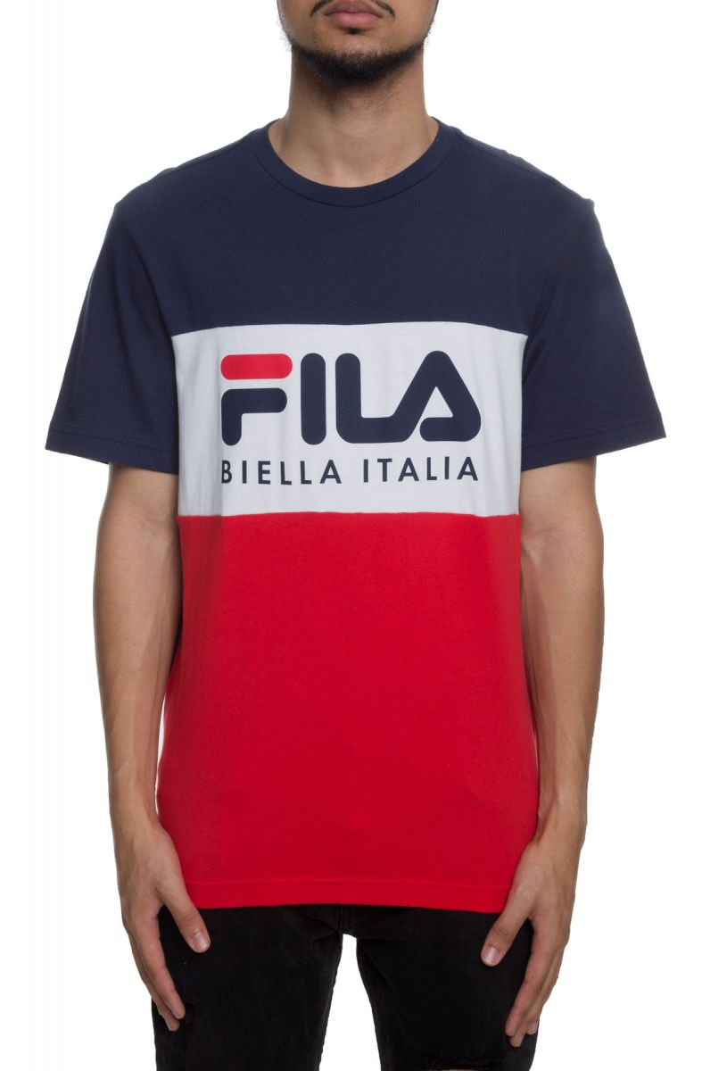 5734a40cfdbc Fila Biella Italia Tee Navy