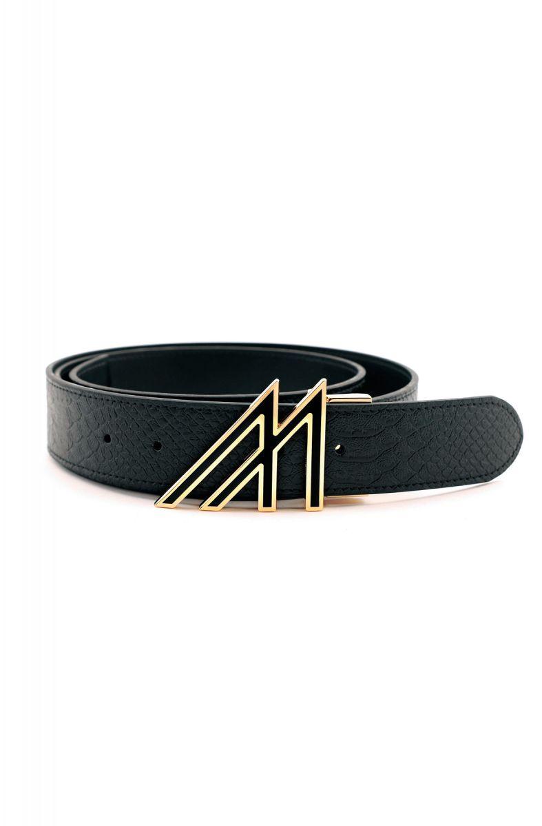 Mint Anaconda Belt Black Gold M Buckle