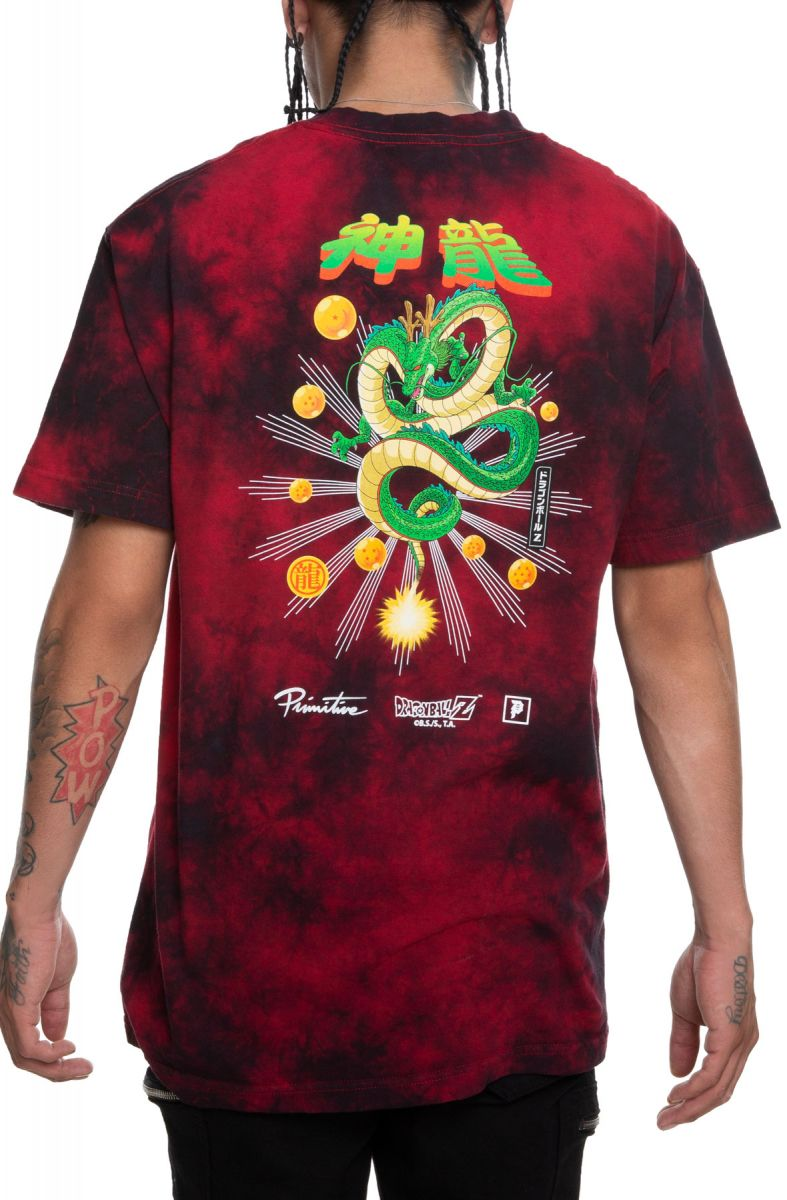 57ff769d Shenron Wish Washed Short Sleeve Tee in Red/Black
