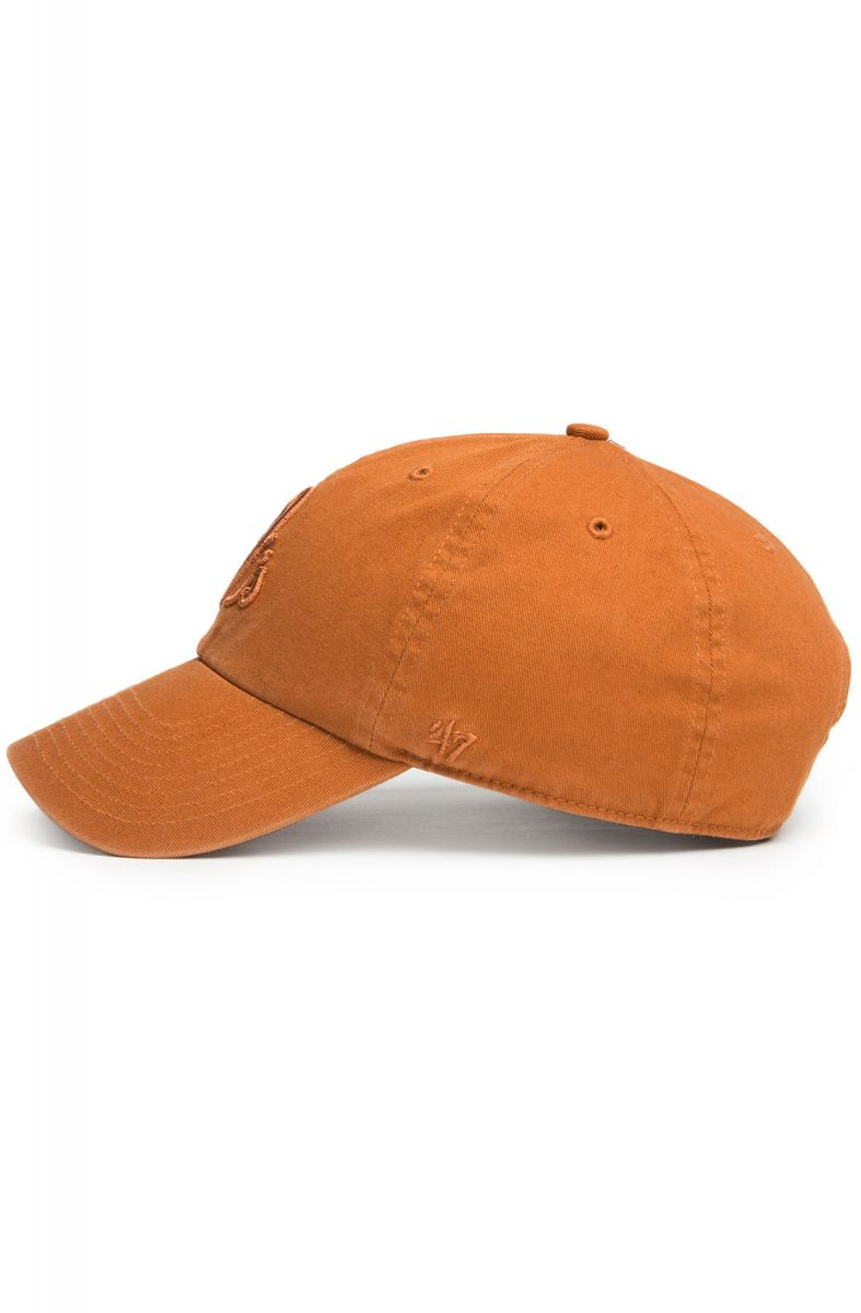 ... The Baltimore Orioles  47 Brand Clean Up Tonal Dad Hat in Burnt Orange  ... b20bdabba8f