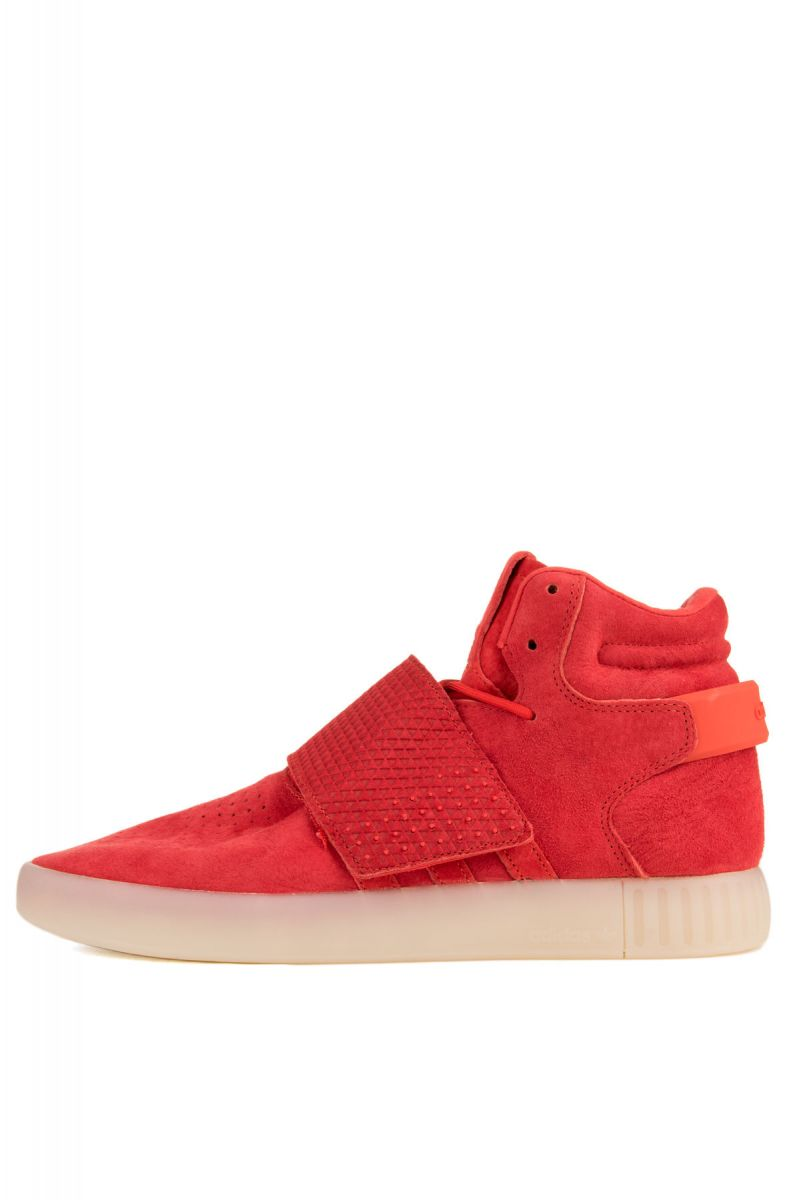 reputable site 70c20 864eb The adidas Tubular Invader Sneaker in Red & Vintage White