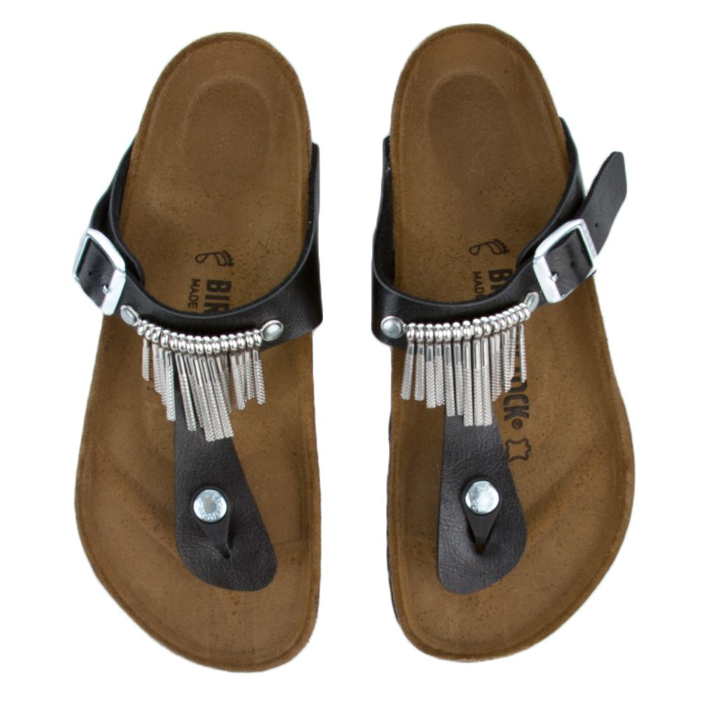 Birkenstock Gizeh Women's Graceful Licorice Fringe Sandals
