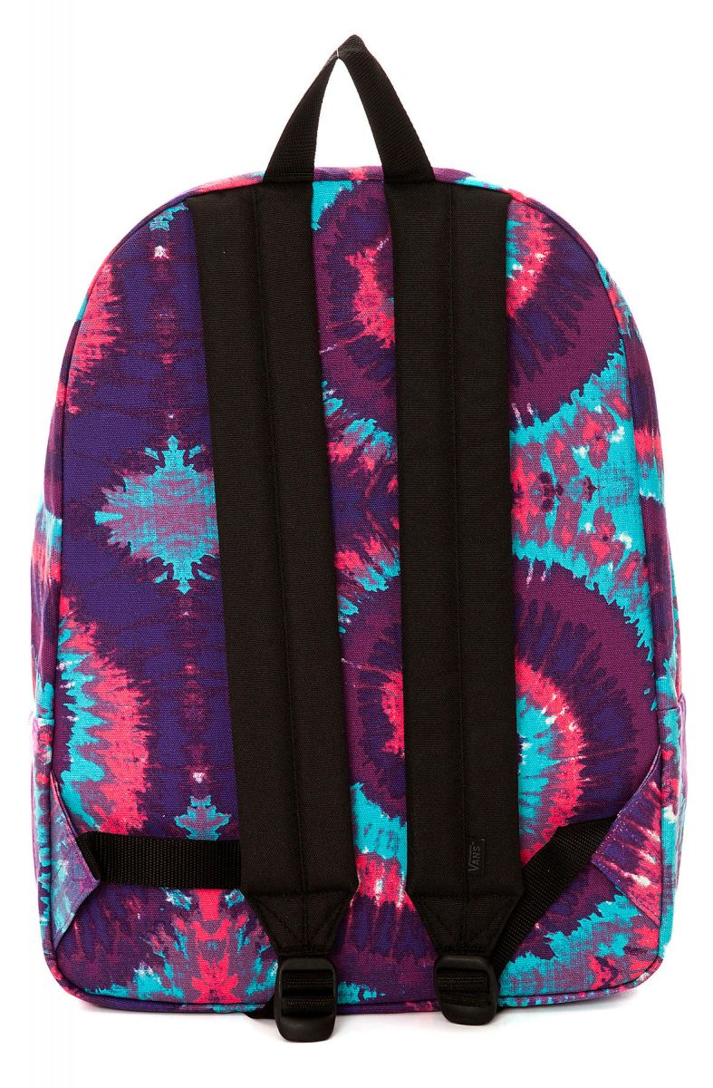 Vans Backpack Realm Tie Dye In Pink Purple