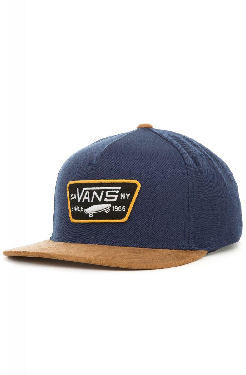 9a765bd3934 Vans Hat Full Patch Snapback Dress Blue   Khaki Blue