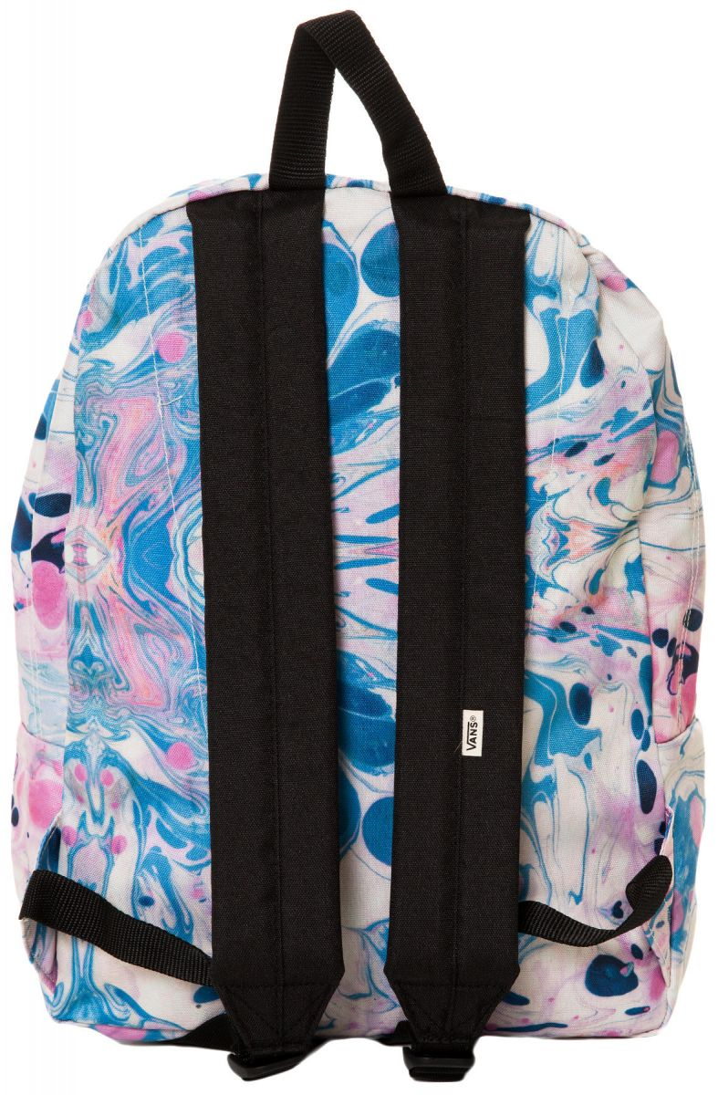 Vans Backpack Realm Marble Blue And Pink