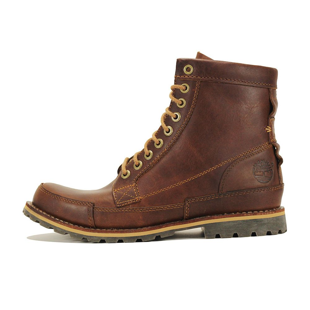 Timberland for Men: Earthkeepers Original Leather 6 Inch Brown Boot