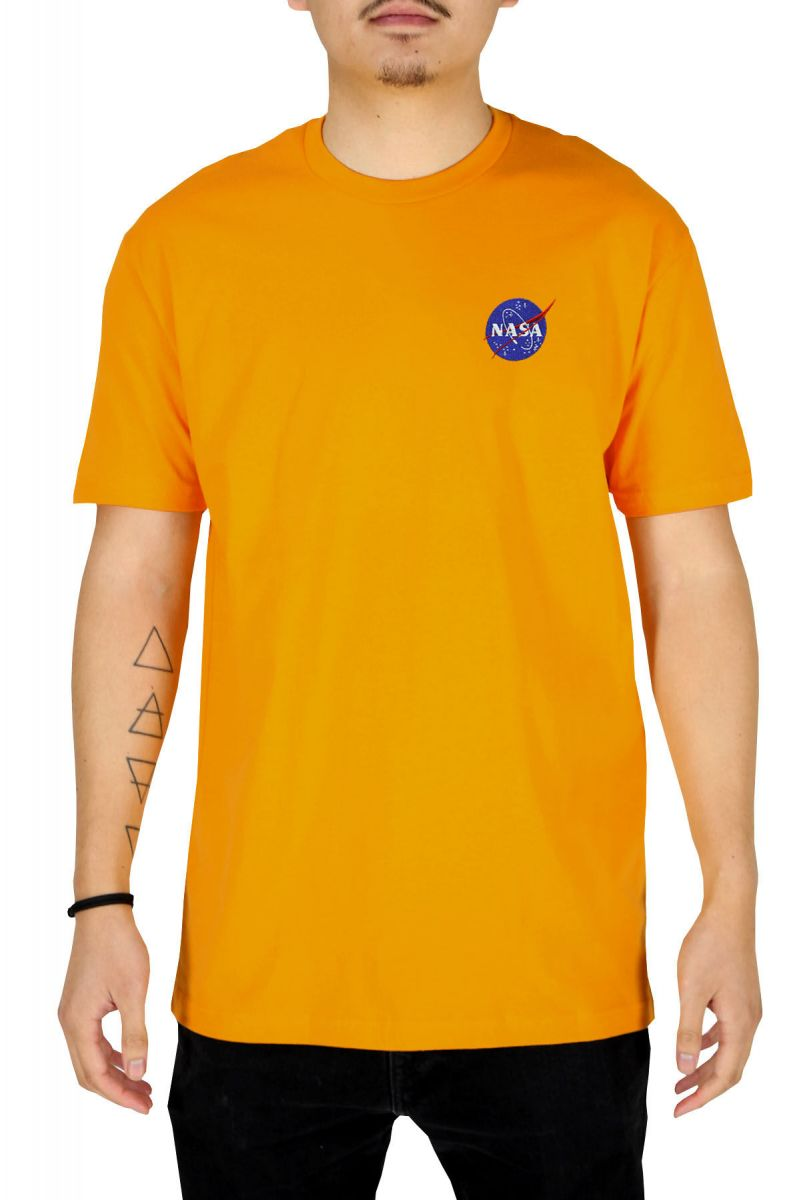 5d817588 NASA MEATBALL LOGO EMBROIDERED MENS T-SHIRT