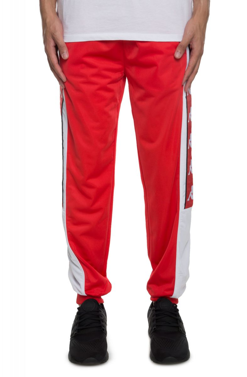 2d46a1013a The 222 Banda 10 Alen Pants in Red Flame and White