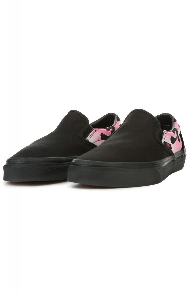 ... The Women s Classic Slip-On Flame in Neon Pink and Black ... 871bffe08