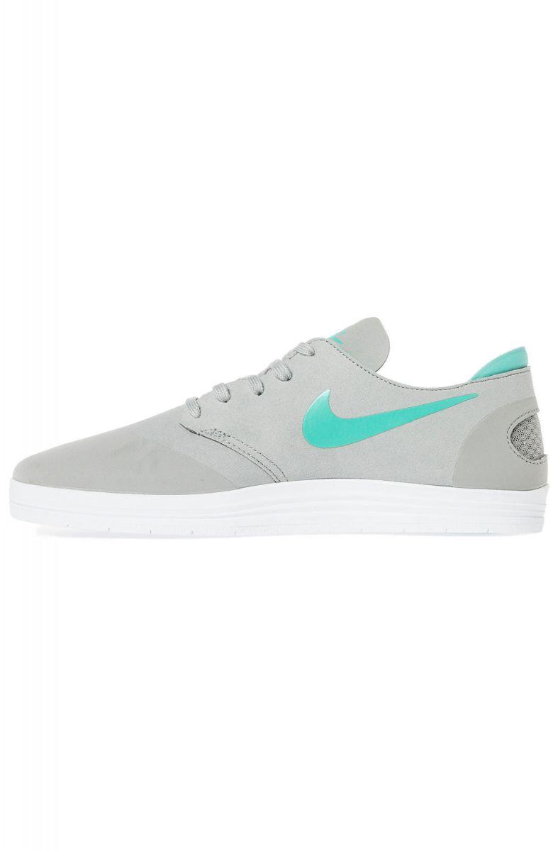711424b4487c Nike SB Sneaker Lunar Oneshot in Base Grey and Crystal Mint Green