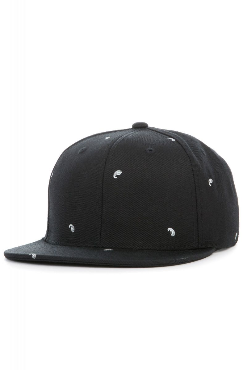 Black Scale Hat Paisley II Snapback Black d63bbe654b71