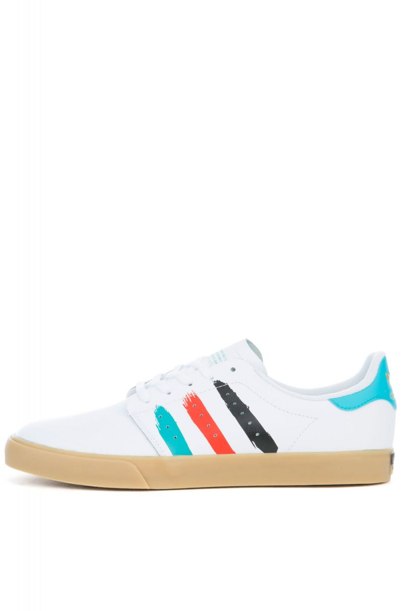 5f2ffc896d6 The Seeley Court Sneaker in White Leather and Energy Blue