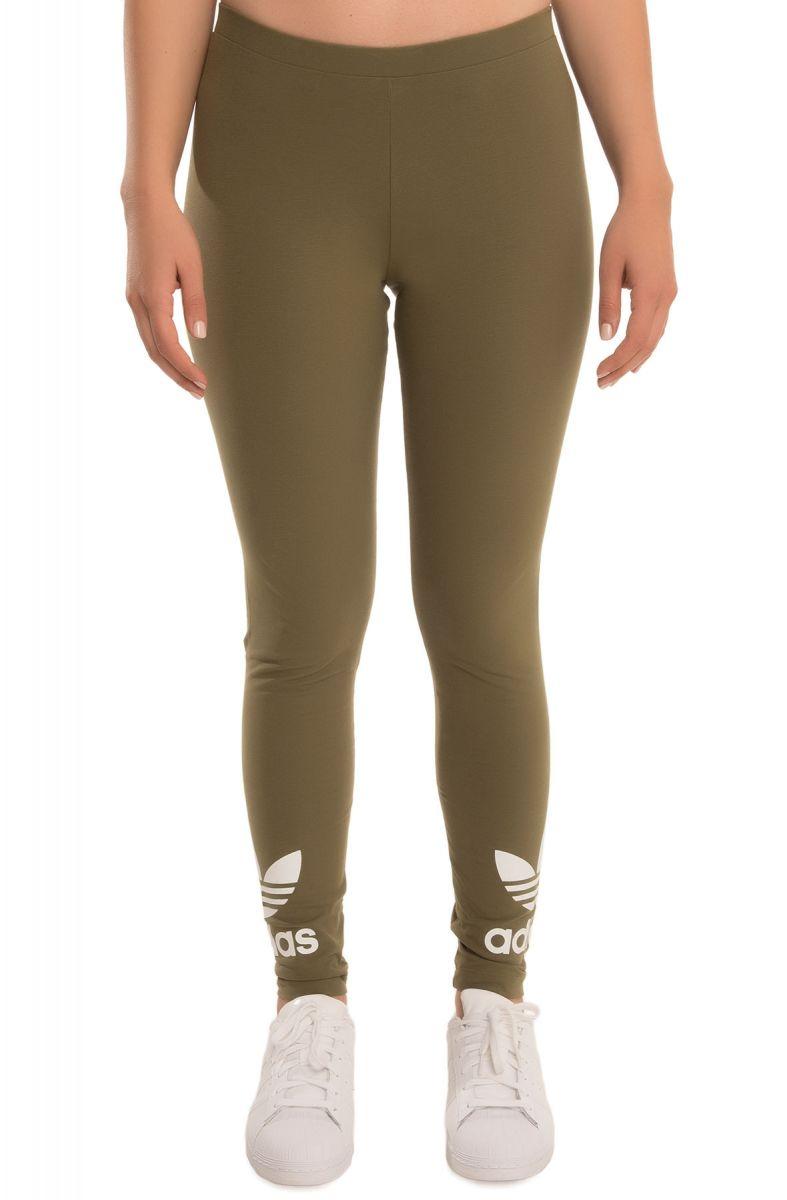 cdfc7e66c0453 adidas leggings Trefoil Olive Green