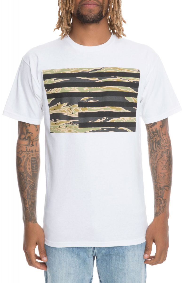 The Tiger Camo Rebel Flag Tee in White