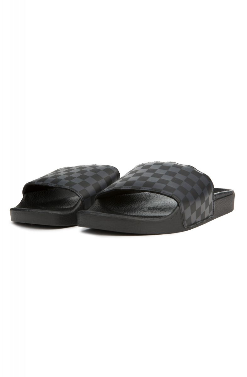 a5f54155920 ... The Men s Slide-On in Black and Asphalt Checkerboard ...
