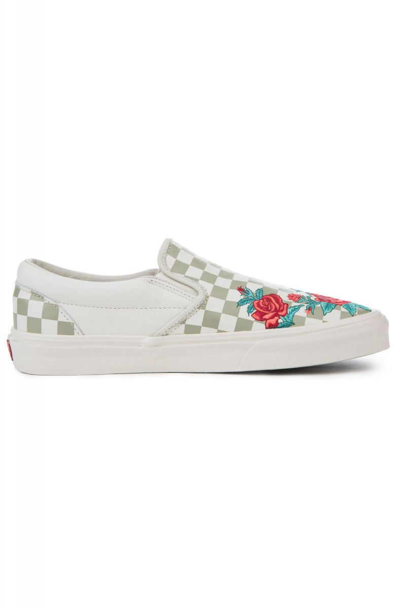 e50ddb89cee2 The Classic Slip-On DX Rose Embroidery in Marshmallow and Turtledove