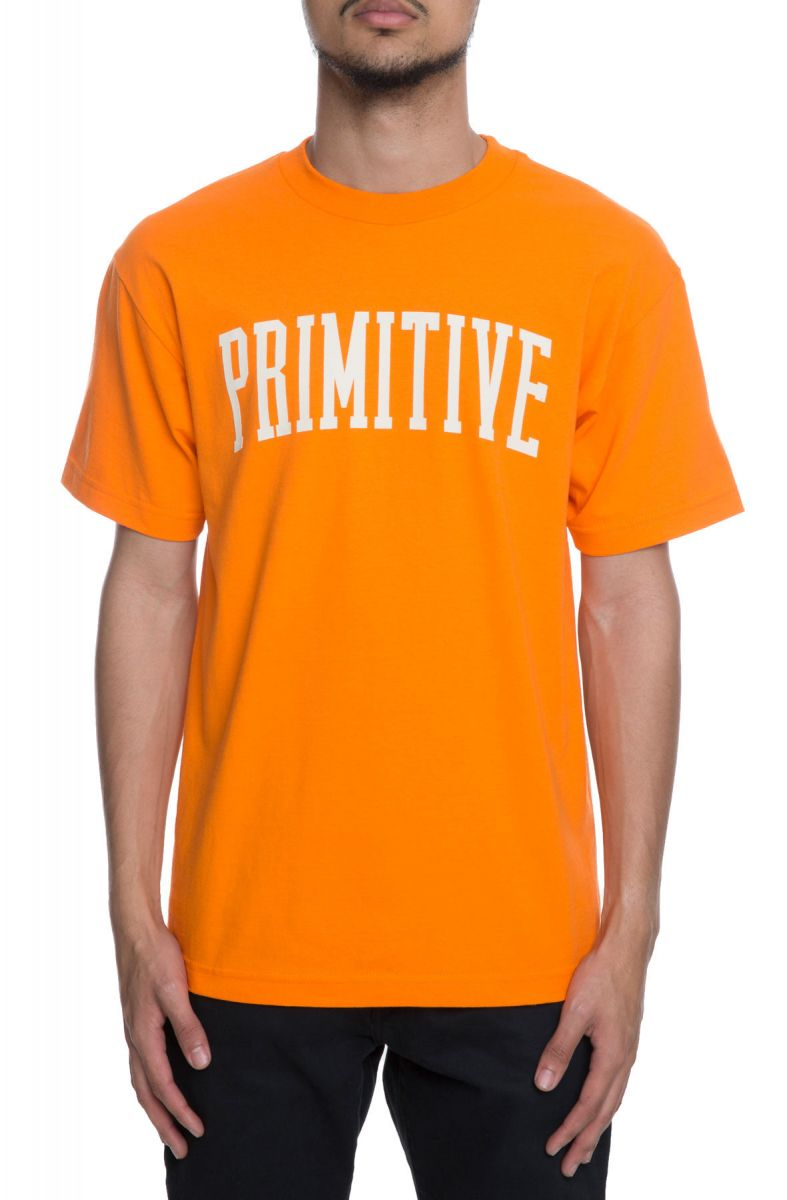 Visa Payment For Sale Clearance Store Online Primitivie Collegiate Arch Logo T-Shirt In Orange - Orange Primitive High Quality For Sale wG7ygKs