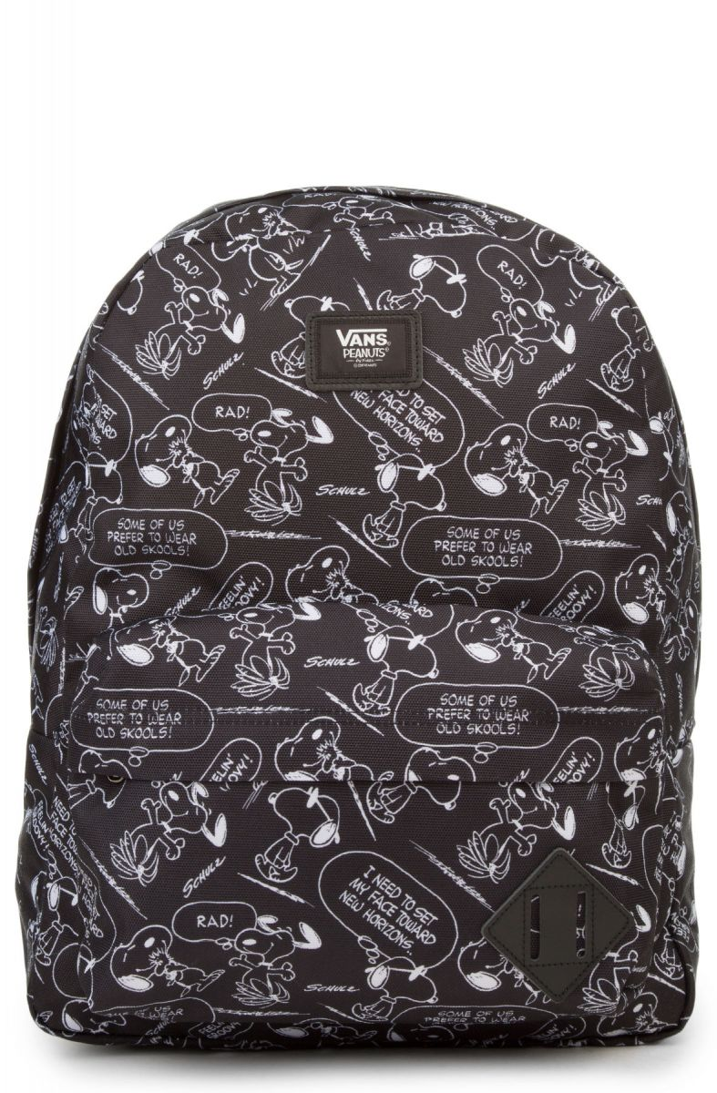 VANS Backpack x Peanuts Snoopy Old Skool II Black White