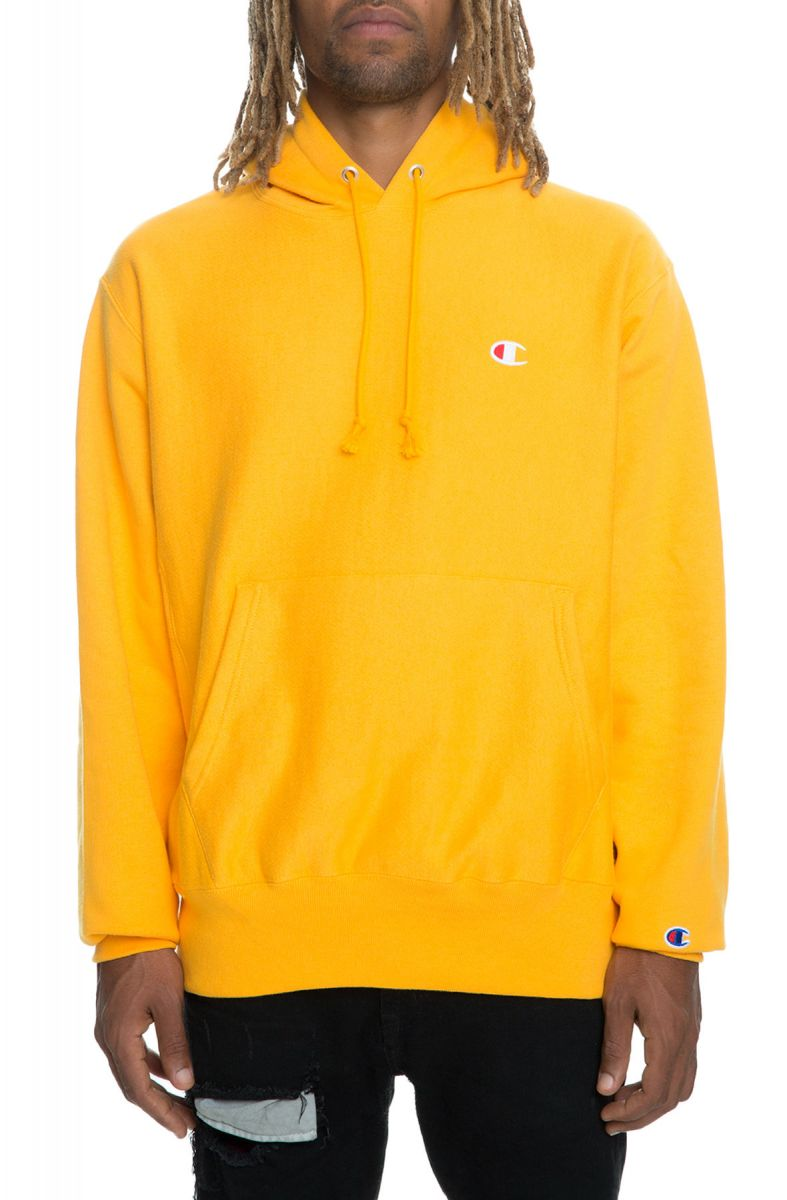 The Reverse Weave Pullover Hoodie in Gold ...