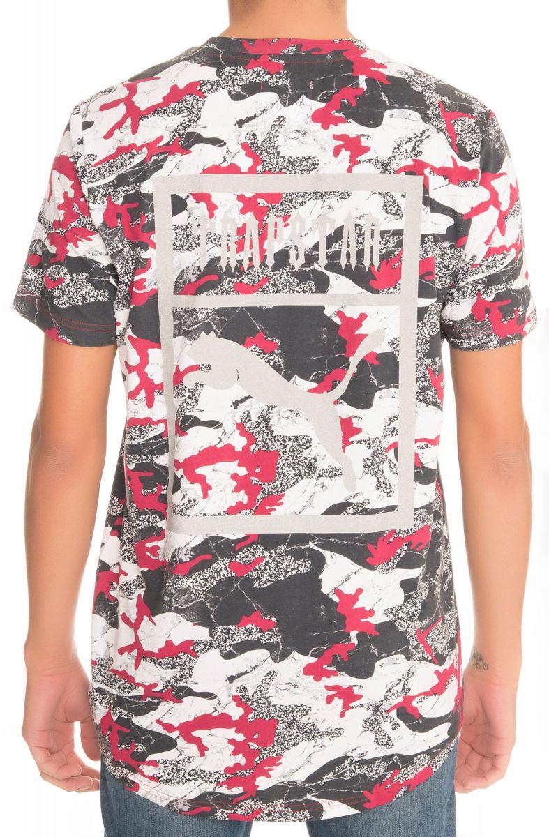 321993f7a02bd5 Puma Tee Puma x Trapstar Logo Barbados Cherry and Trap Camo