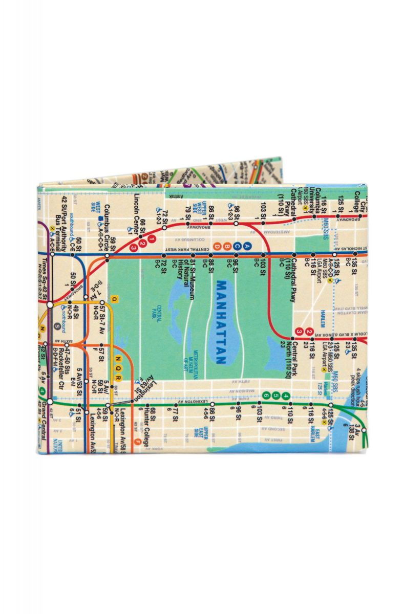 the nyc subway bifold paper wallet