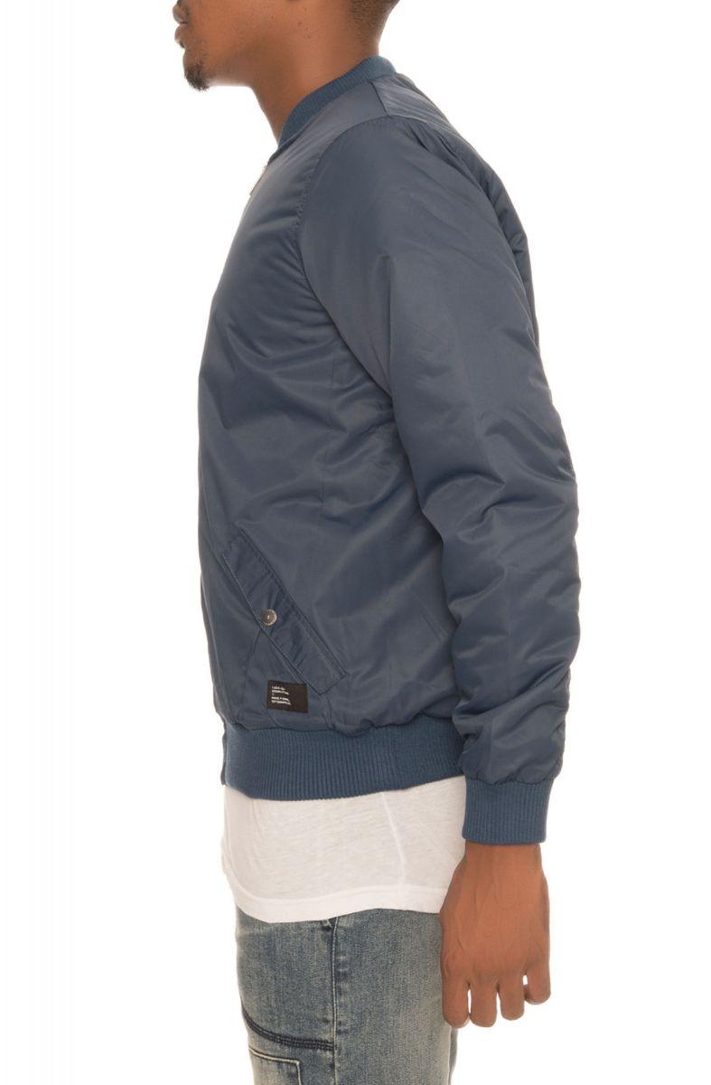 I Love Ugly Jacket Satin Bomber Royal Blue