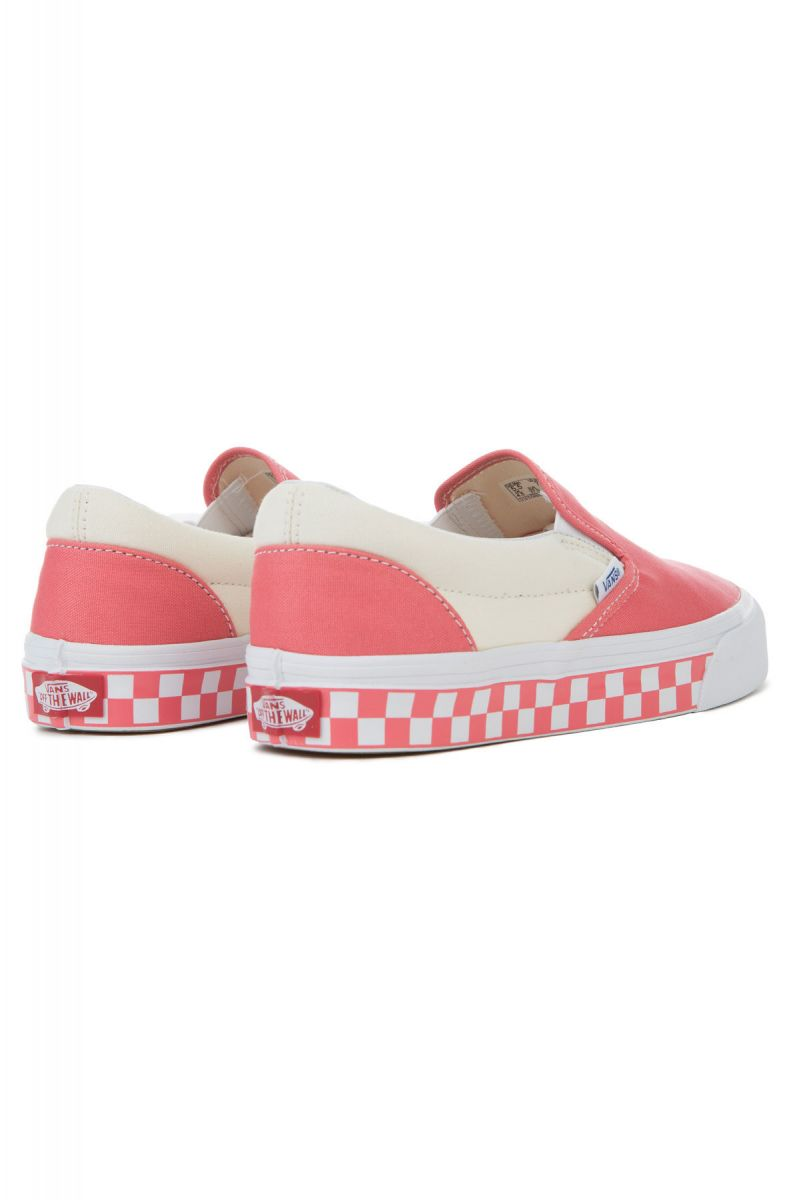 e5cfc66b89 The Women s Classic Slip-On Checker Sidewall in Spice Coral and True White