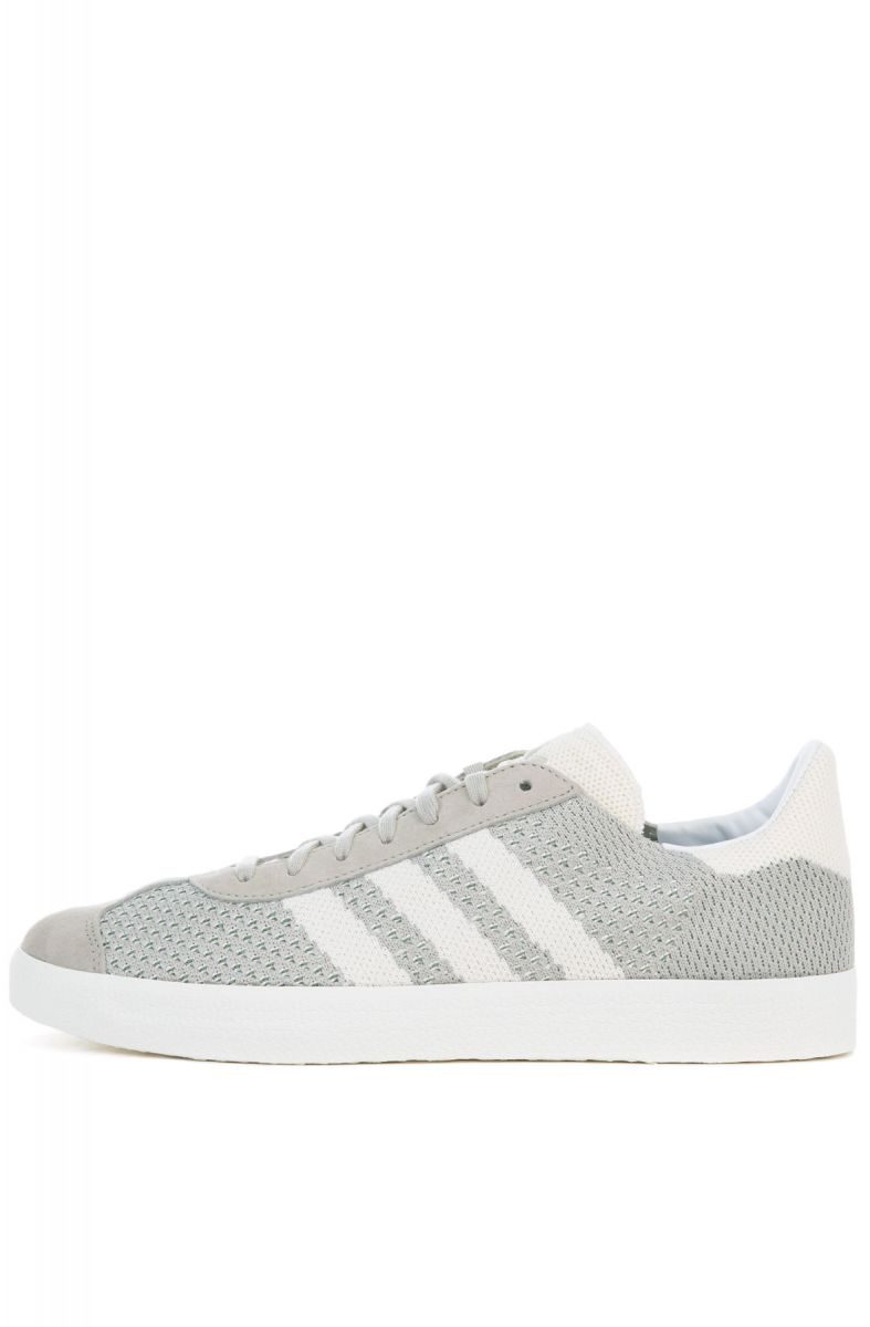 The Gazelle Primeknit in Sesame, Off White and Trace Green S 17