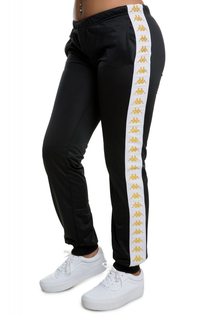 074ebe6e12 222 Banda Wrastoria Slim Alternating Banda Track Pants in Black