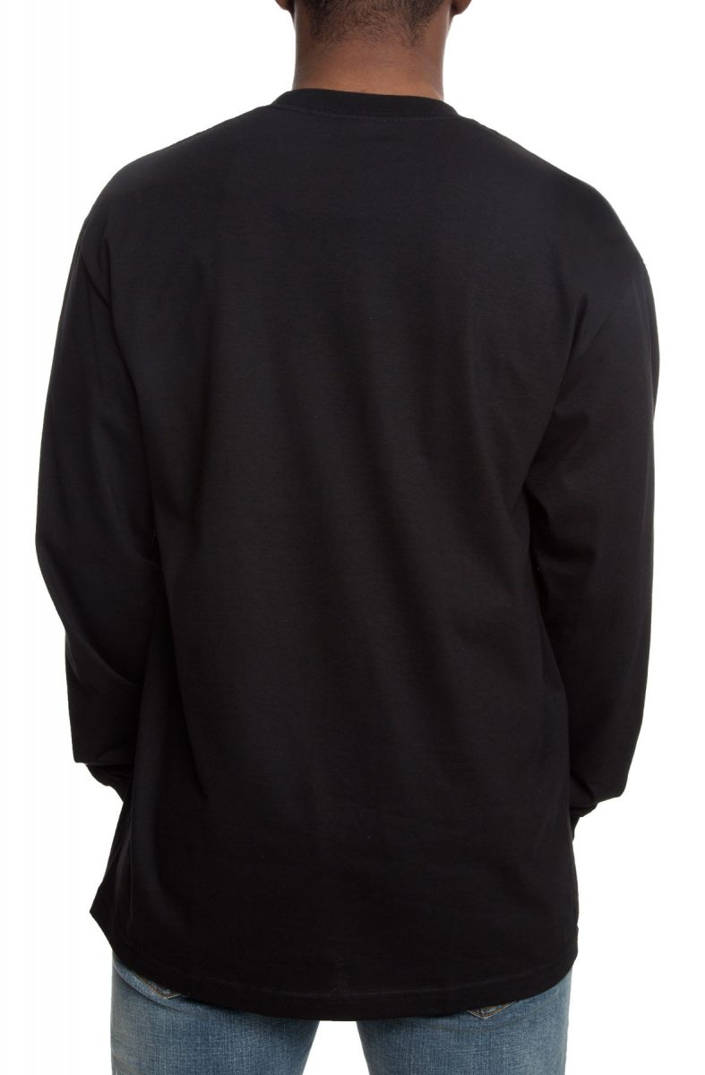 The Secret Society Long Sleeve Tee in Black