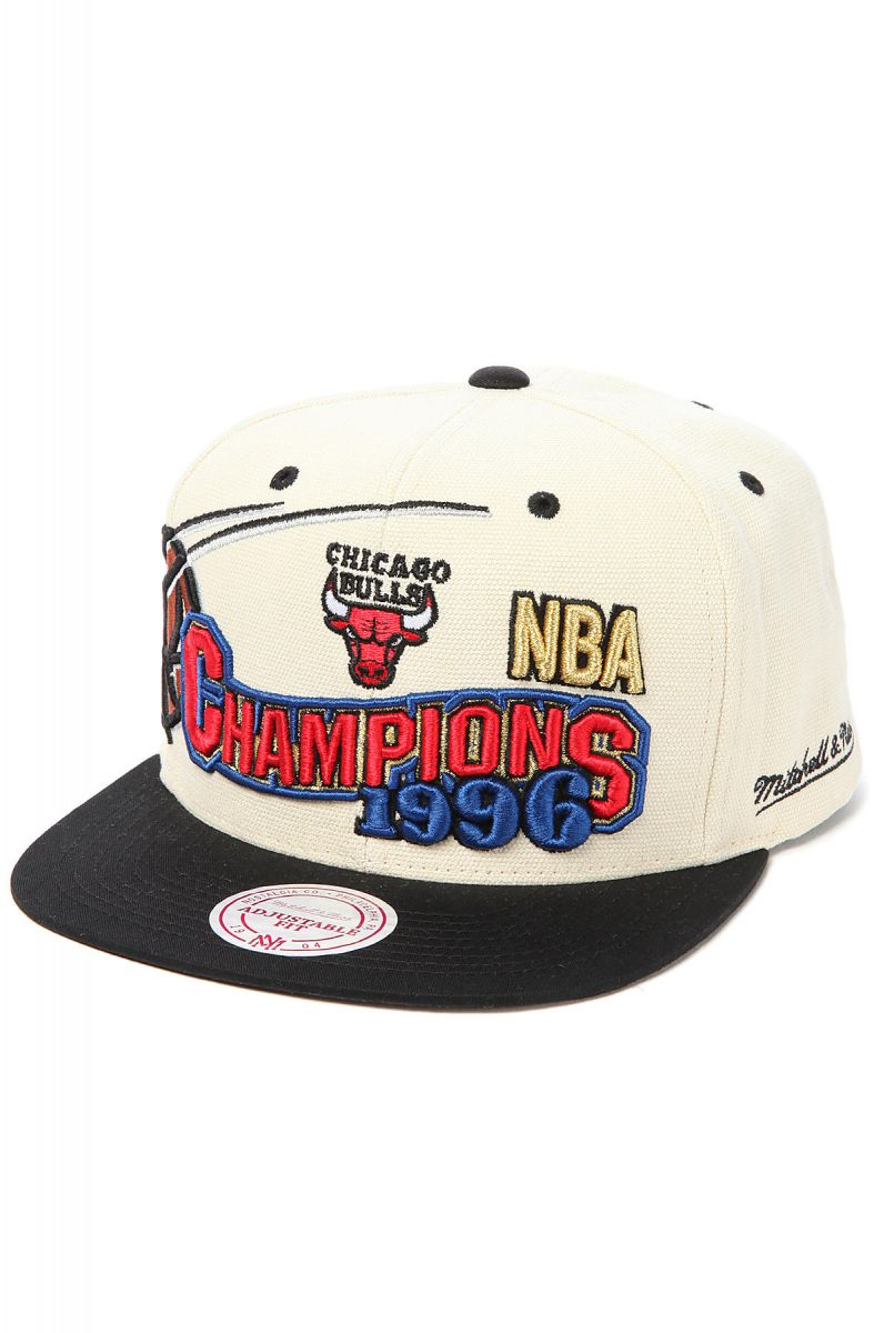 cea4f1be1cd11 ... netherlands the chicago bulls 1996 nba finals champions snapback cap in  ivory black 868f3 e25cb