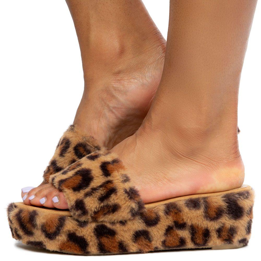 Timmy-16 Fur Platform Sandals