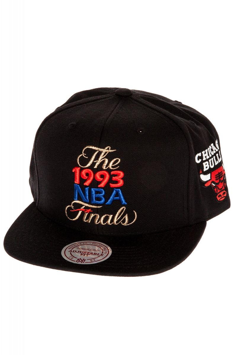 The Chicago Bulls 1993 NBA Finals Commemorative Snapback Hat in Black ... f95106ff92a1
