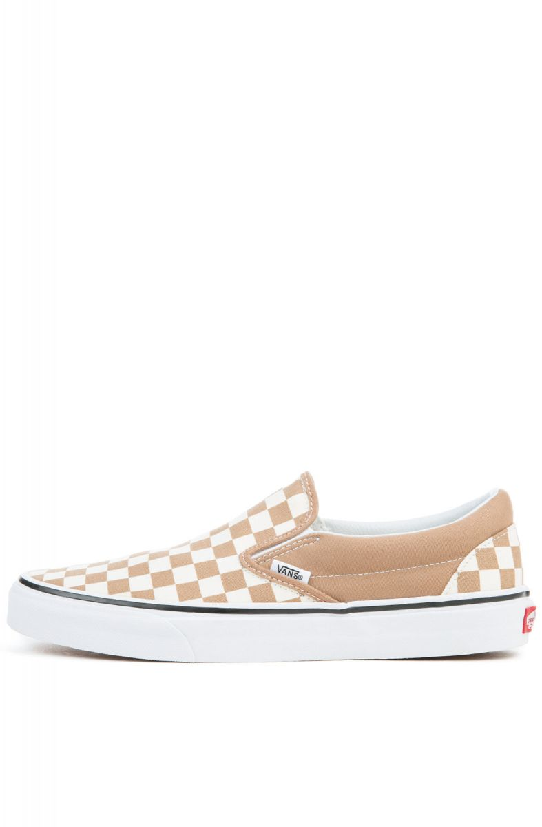 6bc088e43311ce The Unisex Classic Slip-On in Tiger s Eye and White Checkerboard