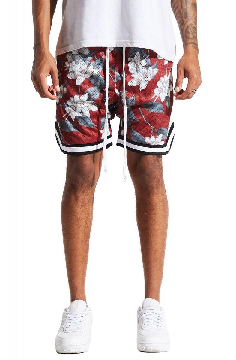e4e52f304ca Jordan Ball Shorts Red Floral