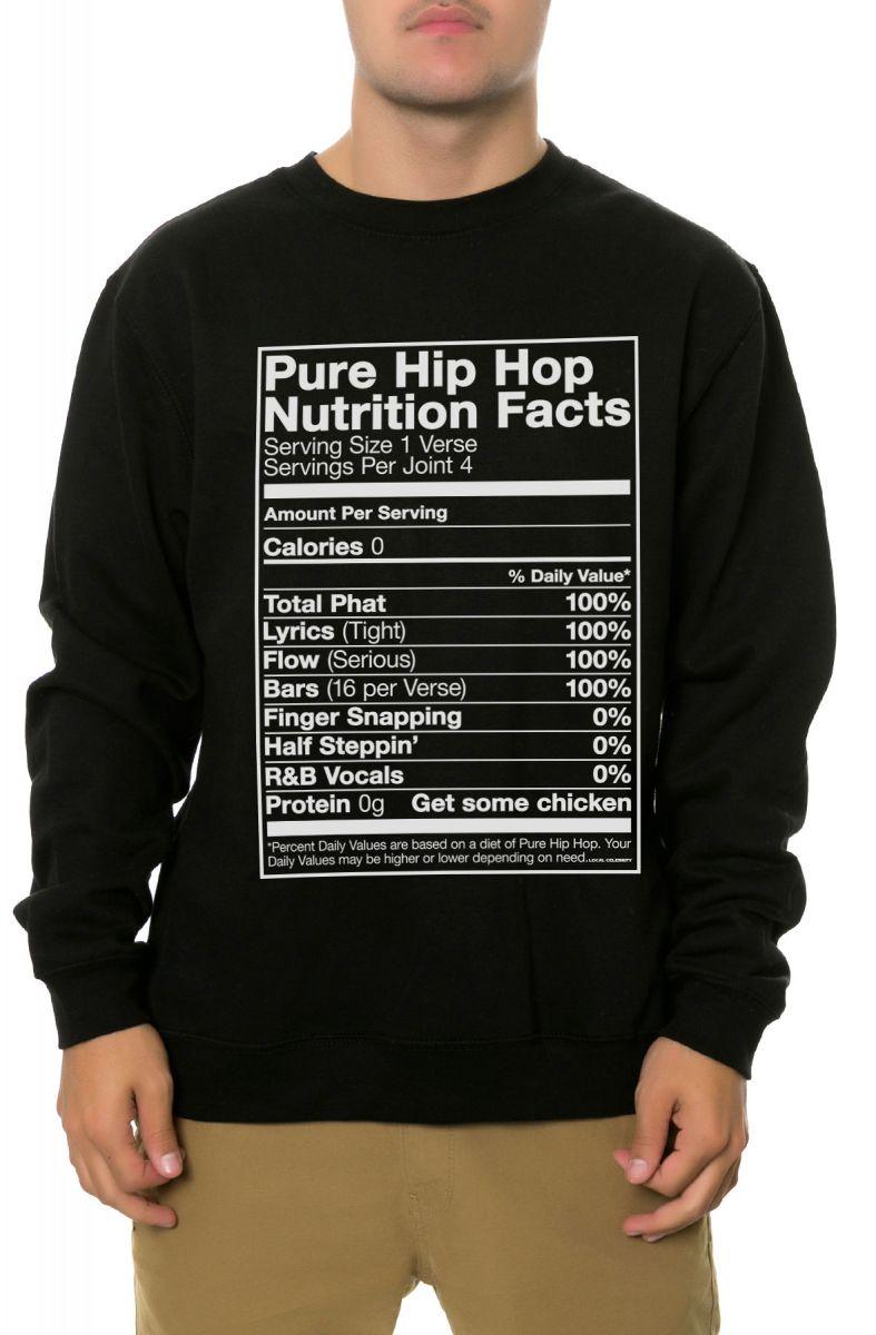 aee43290f The Hip Hop Nutrition Crewneck Sweatshirt in Black