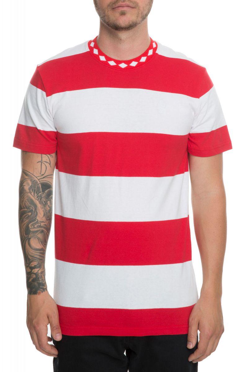 7348e2d832 Huf Tee Ace Stripe Shirt Red