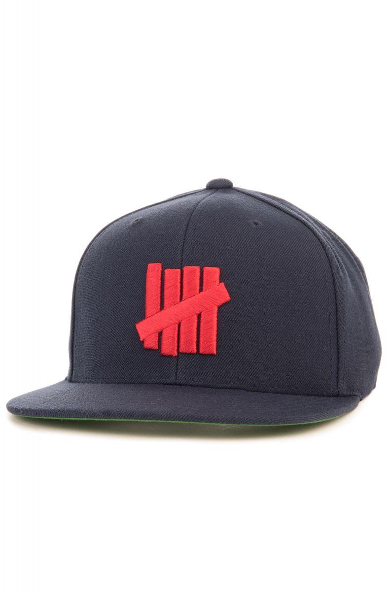 832f5514 UNDFTD Hat 5 Strikes Snapback Navy Blue
