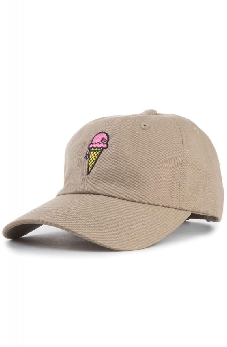 d4fc46094e4 KLP Hat Ice Cream Cone Dad Khaki Brown