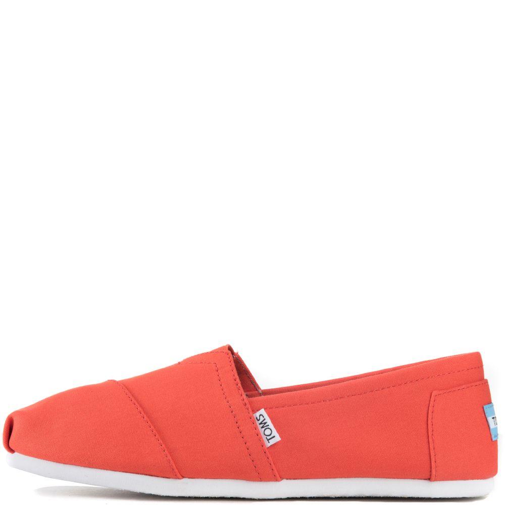 Toms for Men  Classic Bright Orange Canvas Flats 8debce95c
