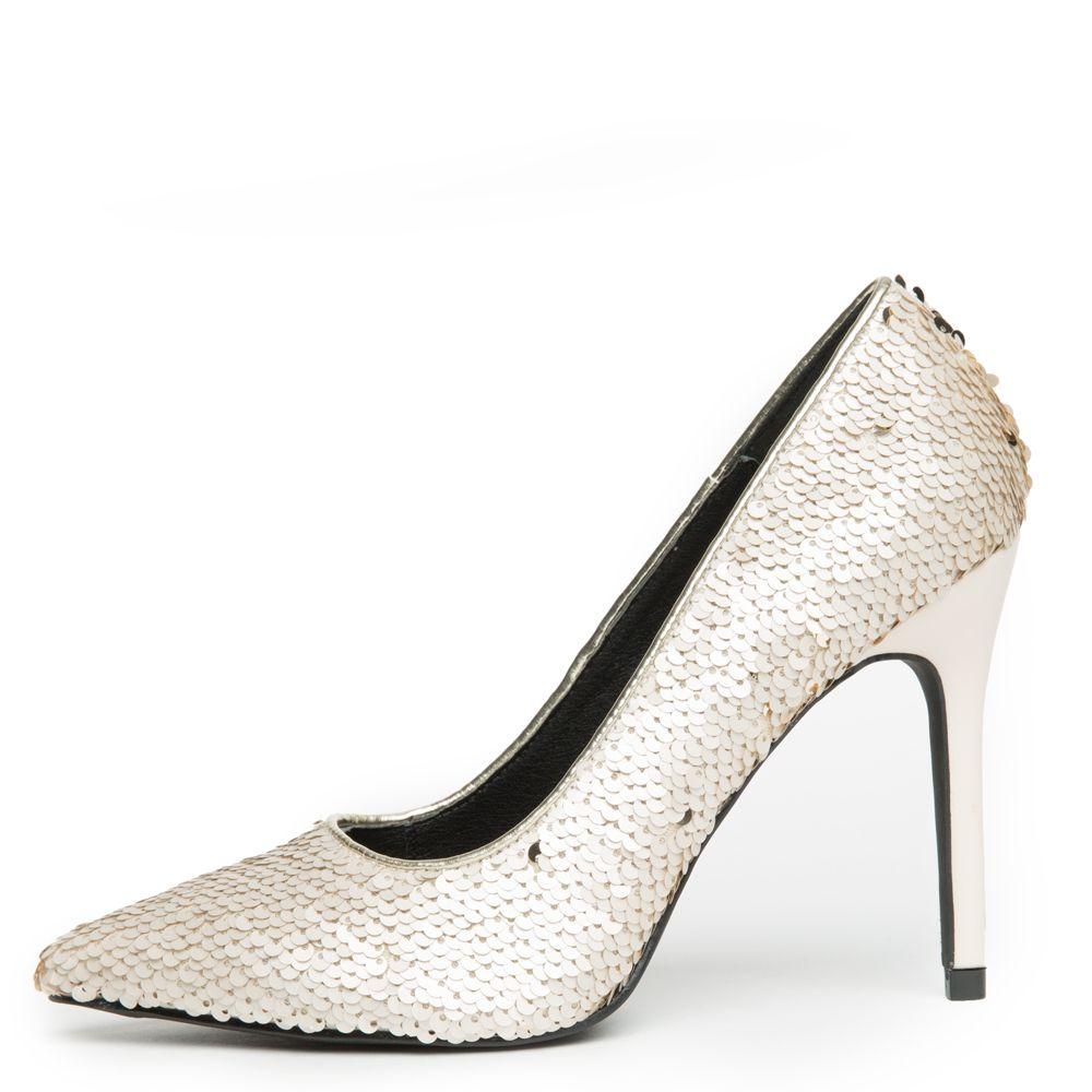 1861e49278cd Cape Robbin Kitana-45 Women s Champagne Sequence High Heel