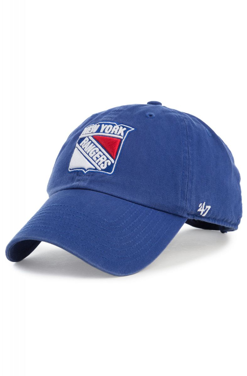47 Brand Hat New York Rangers  47 Brand Clean Up Dad Blue c6aeed912d6a