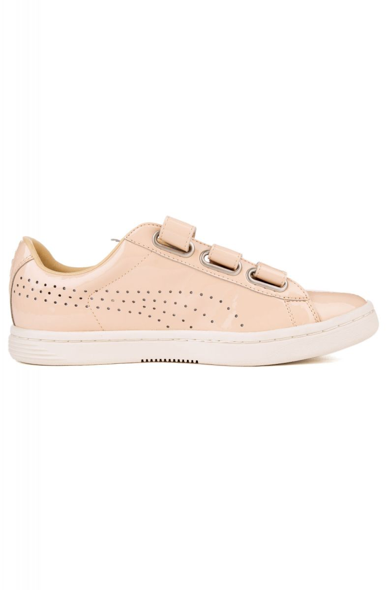 sports shoes 5c7cd 642a0 The Court Star Velcro Nude Sneaker in Natural Vachetta and Whisper White