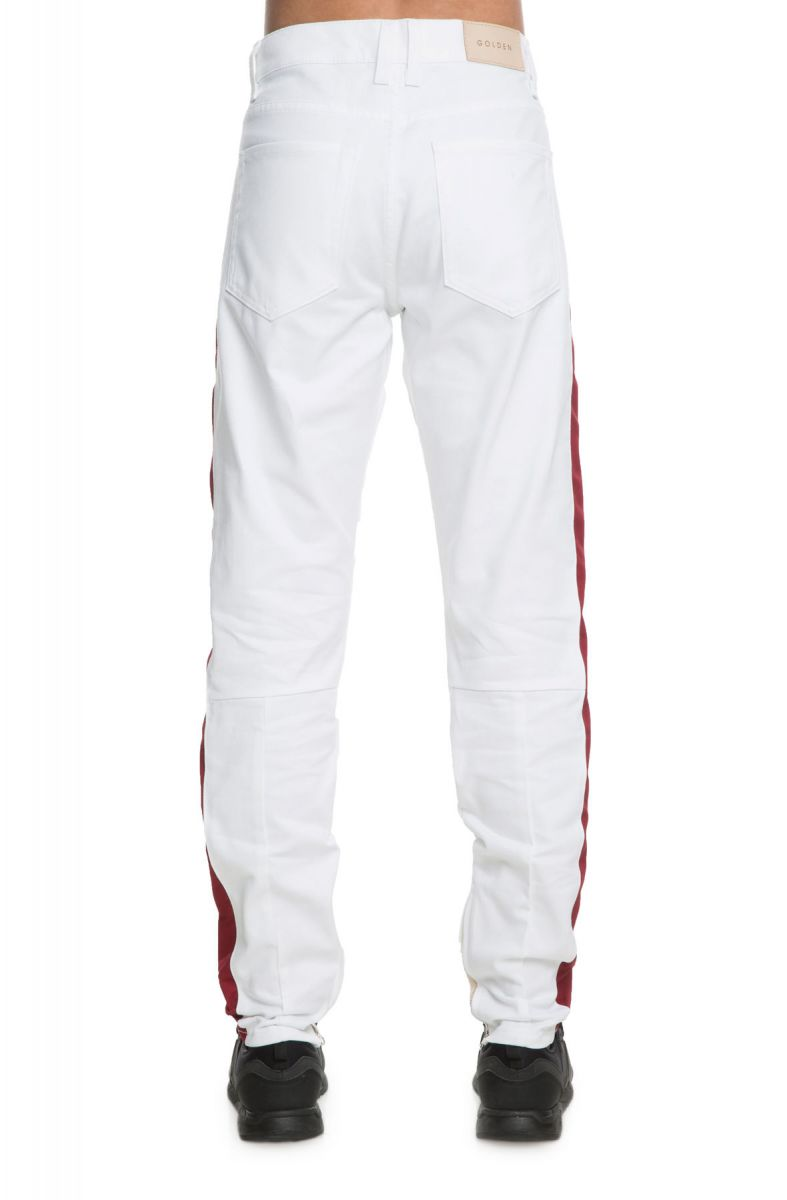0e4766de The Union Champion Track Pants in White and Red