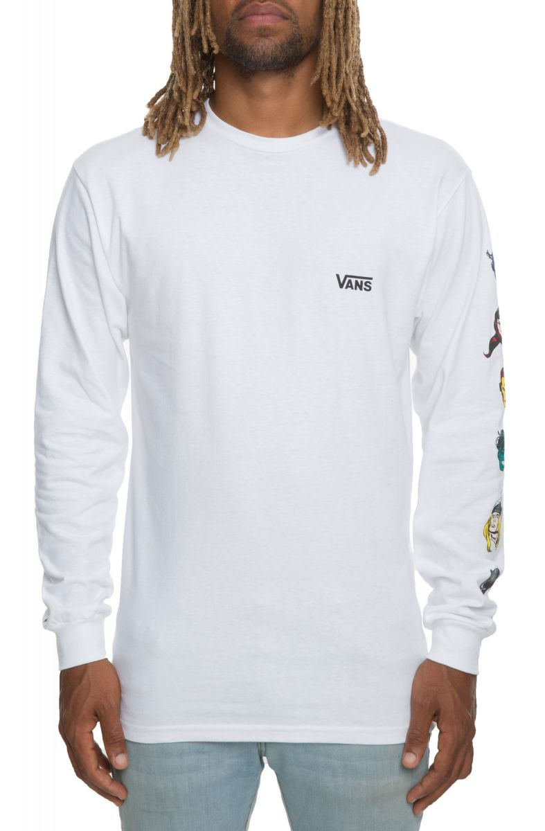 The Vans x Marvel Character Long Sleeve in White